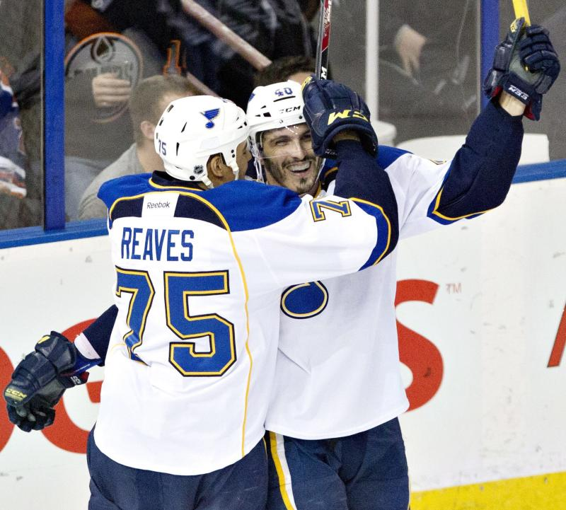 Blues top Oilers 5-2 for 6th straight win