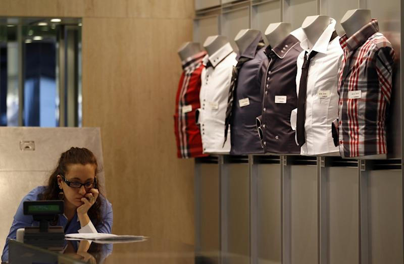 woman shopping store retail job worker shopping consumer