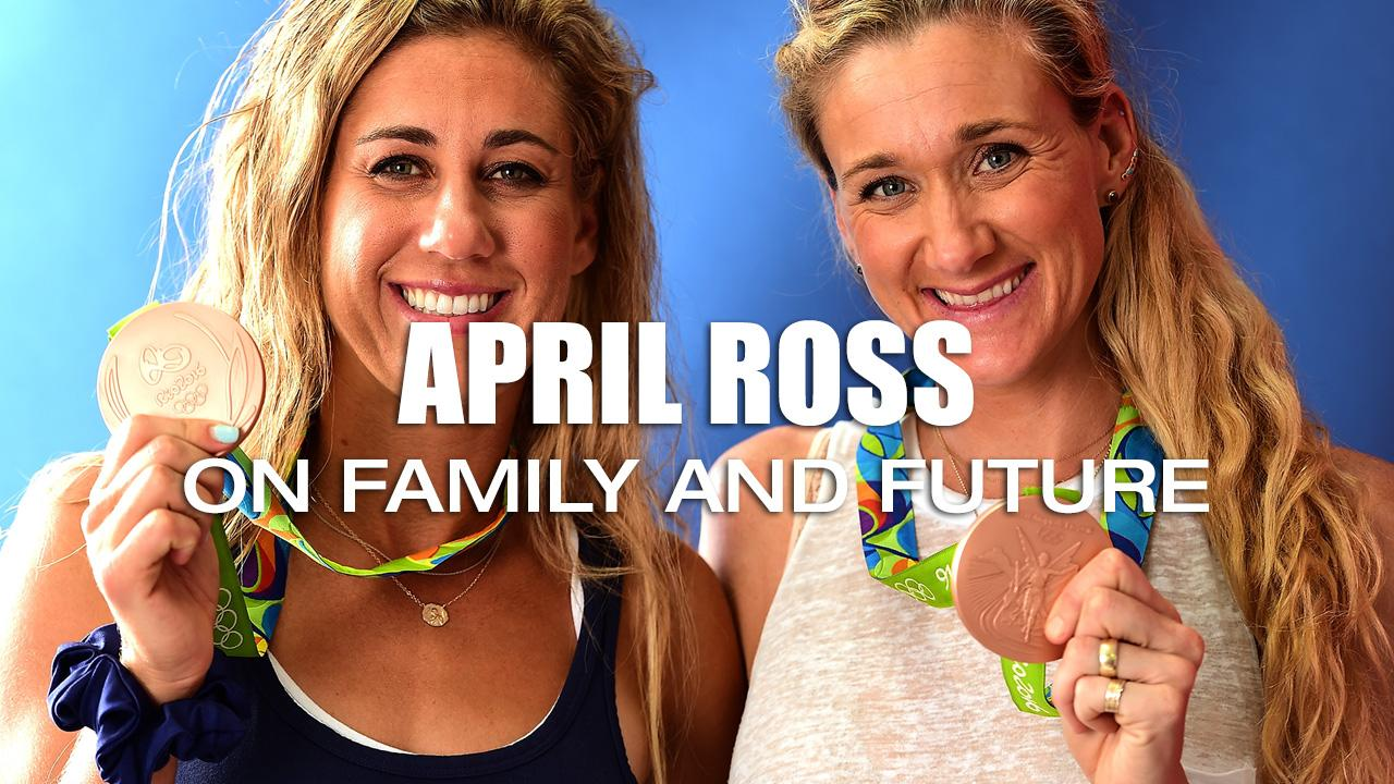 Beach Volleyball star April Ross talks about her future with partner Kerri Walsh and her thoughts on starting a family.