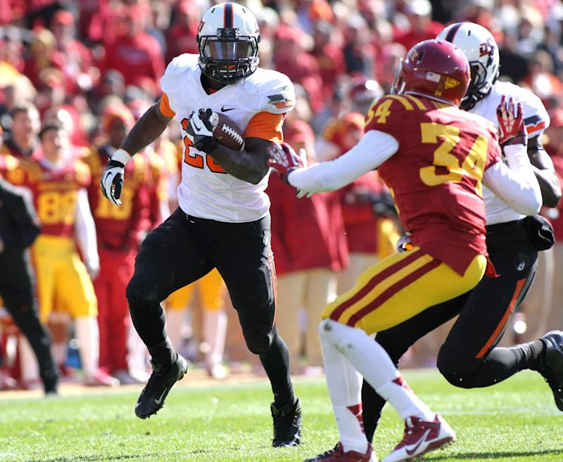No. 19 Oklahoma State runs past Iowa State 58-27