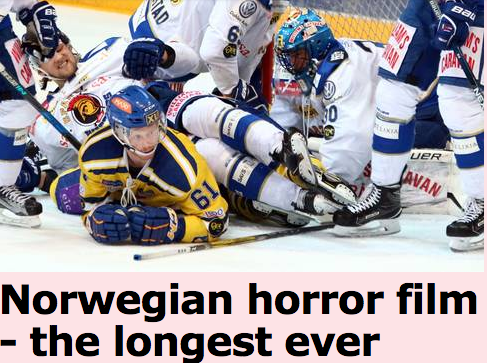 Norwegian hockey teams play record 8 overtime periods