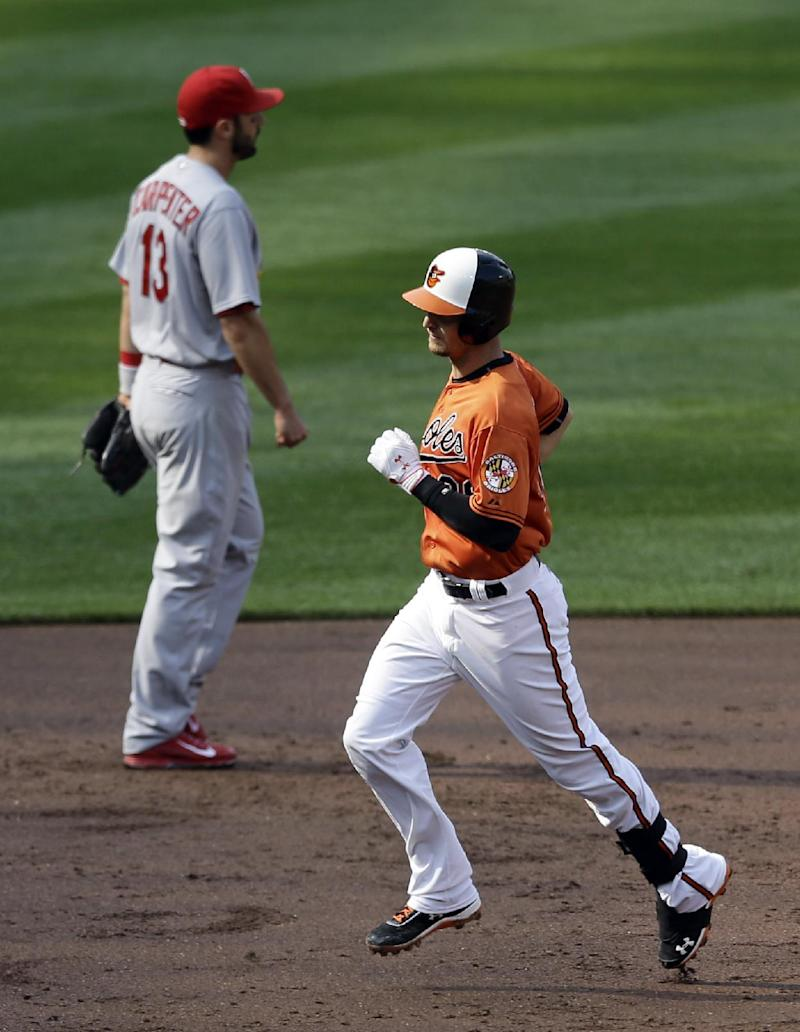 Orioles hit 3 HRs in 10-3 rout of Cardinals