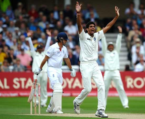 Ishant dismisses Cook