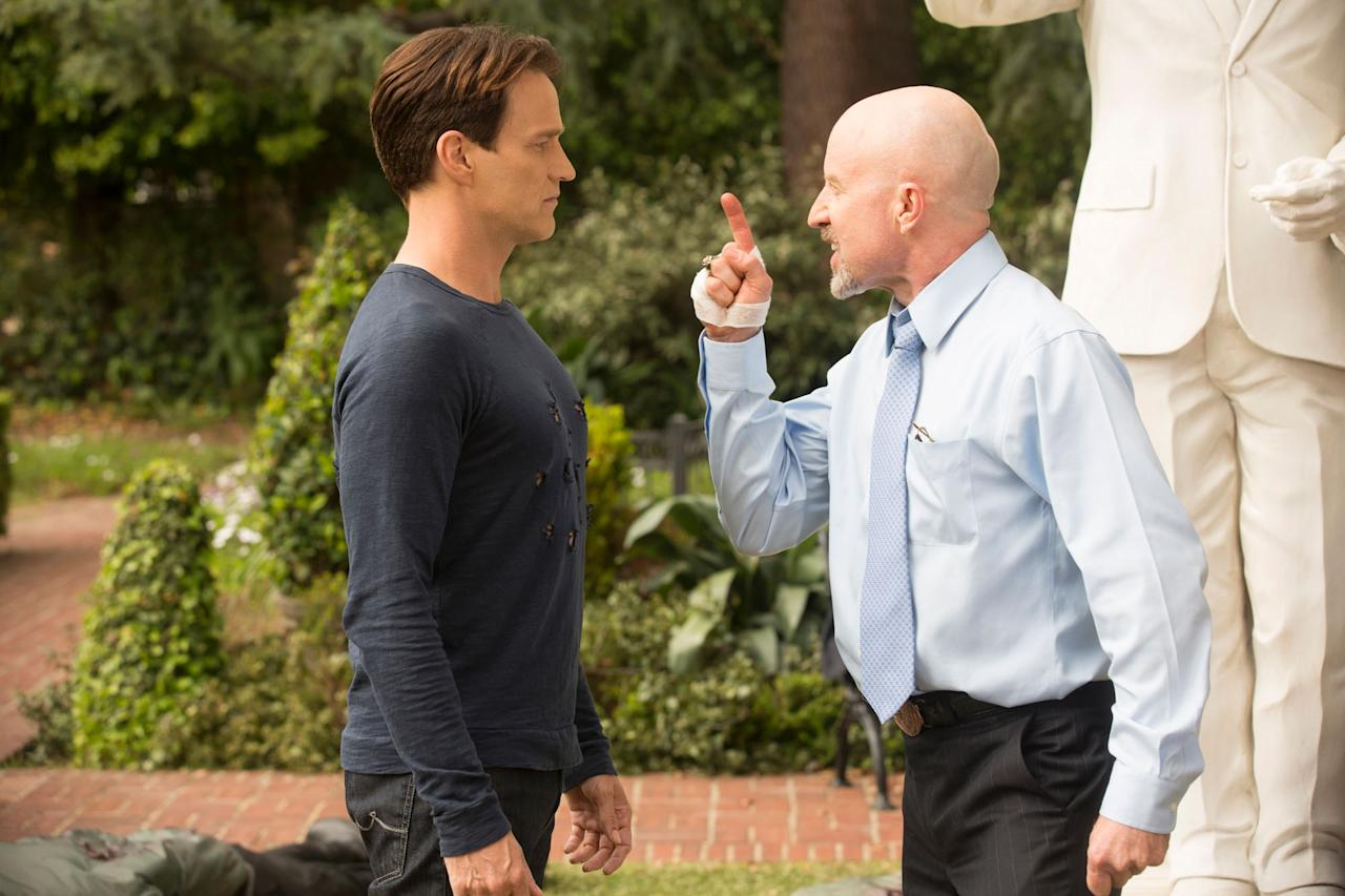 "Stephen Moyer and Arliss Howard in the ""True Blood"" Season 6 episode, ""Don't You Feel Me."""