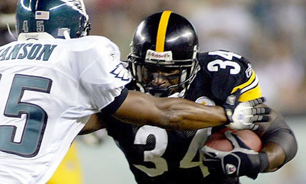 Former Steelers running back Verron Haynes — Getty