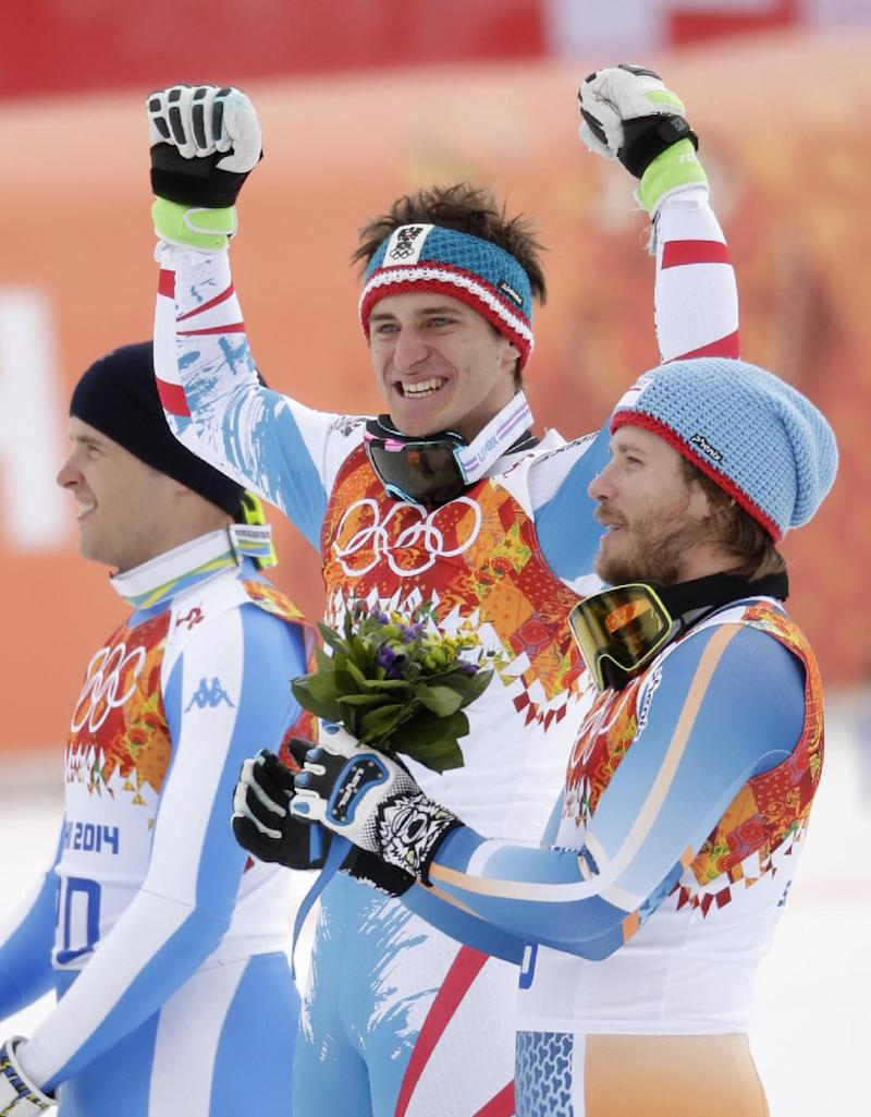 Mayer beats Miller, Svindal in Olympic downhill