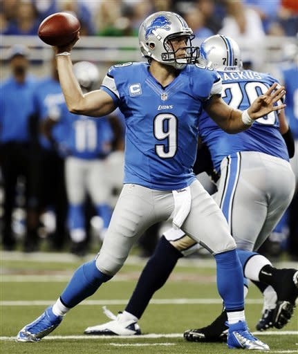 Stafford's TD pass gives Lions 27-23 win over Rams
