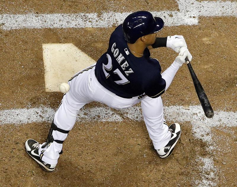 Brewers CF Gomez drops appeal of suspension