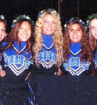Blake Lively livened up the Burbank High cheerleading squad — Seth Poppel/Yearbook Library