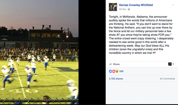 Pastor, football announcer faces heat over alleged national anthem comments