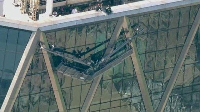 Over 100 firefighters on scene at Hearst Tower