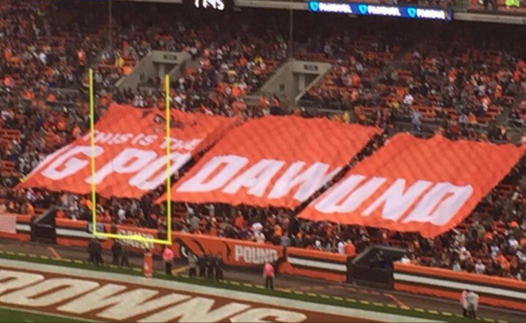 Cleveland Browns fans could use some spelling help