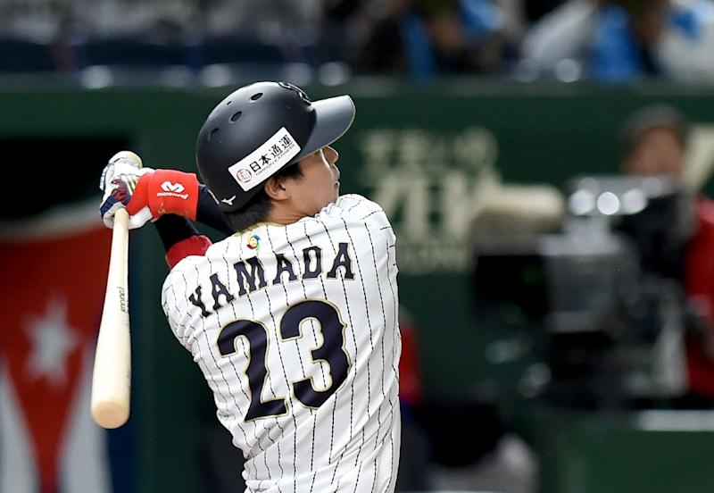 Yamada hits 2 home runs to lead Japan over Cuba in WBC