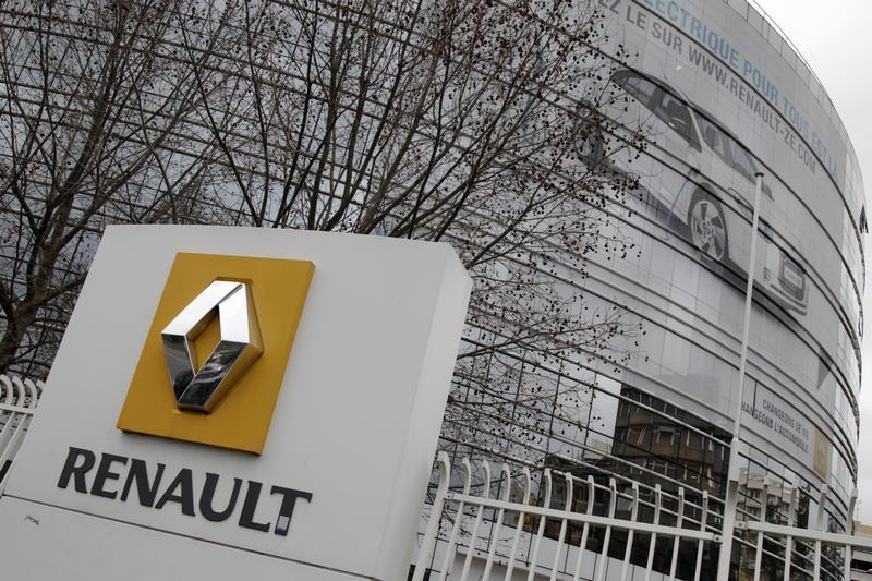View of the Renault headquarters in Boulogne-Billancourt, near Paris