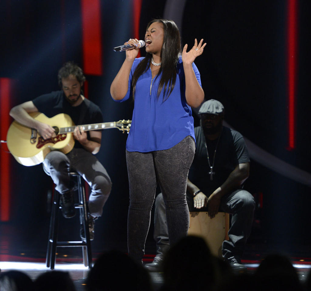 """Candice Glover performs """"Straight Up"""" on the Wednesday, April 17 episode of """"American Idol."""""""