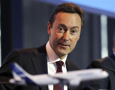 Fabrice Bregier, Airbus President and CEO attends the Airbus annual press conference in Colomiers, near Toulouse