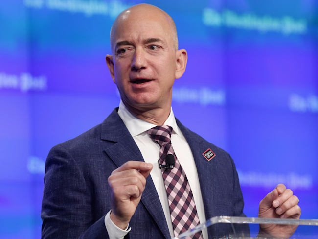 Bezos rises to become world's second richest with Amazon surge