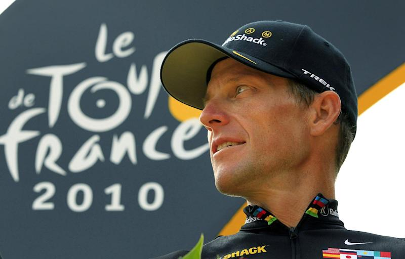 In this July 25, 2010, file photo,  Lance Armstrong looks back on the podium after the 20th and last stage of the Tour de France cycling race in Paris, France. The U.S. Anti-Doping Agency says its review board has made a unanimous recommendation to file formal doping charges against Armstrong. That will move the case to an arbitration hearing if Armstrong chooses to challenge, as he has indicated he would