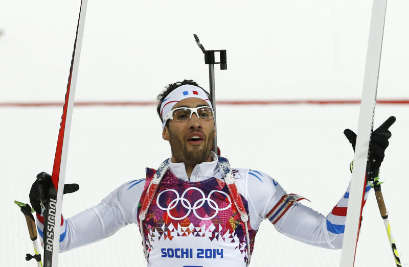 Fourcade wins gold in men's 12.5K pursuit in Sochi