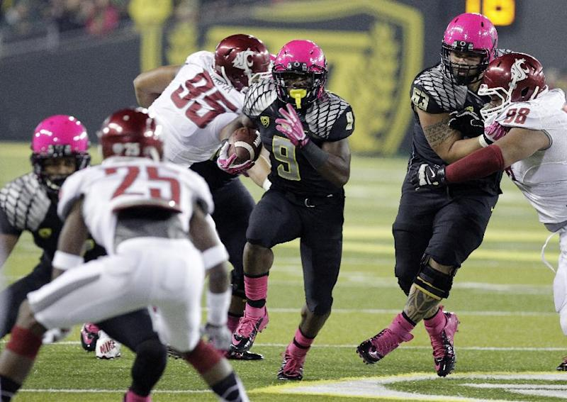 Pushed into a starting role, RB Marshall excels