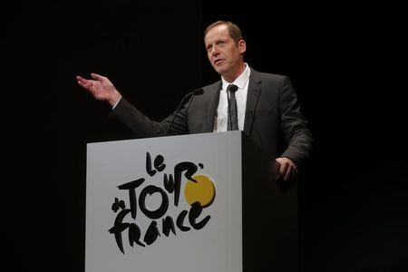 Tour de France director Christian Prudhomme presents the itinerary of the 2016 Tour de France cycling race during a news conference in Paris, France, October 20, 2015. REUTERS/Christian Hartmann/Files
