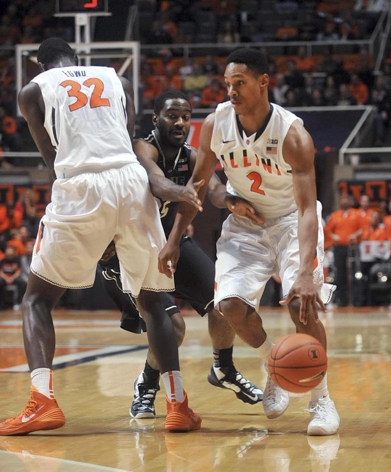 Hammons leads Purdue by Illinois, 66-58