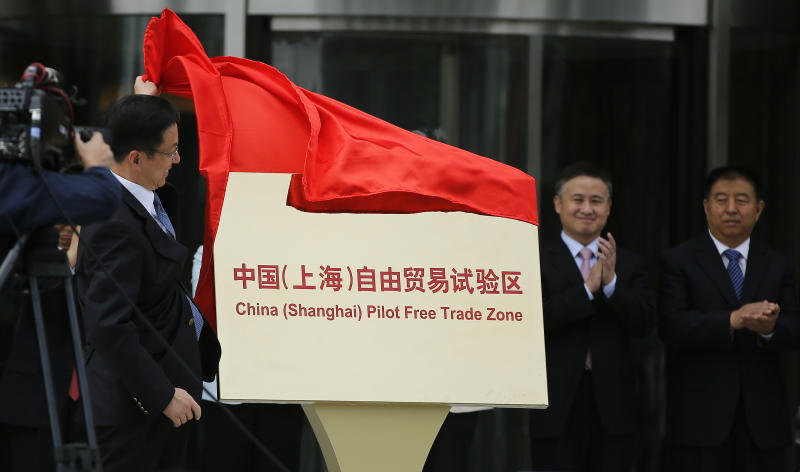 China pilot free trade zone opens in reform push
