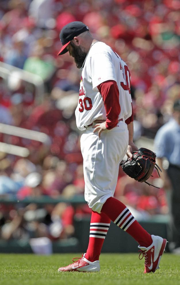 Cardinals RHP Motte placed on disabled list