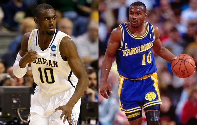 The Michigan Wolverines' Tim Hardaway, Jr. isn't the first in his family to play basketball.  His father, Tim Hardaway, Sr. is a retired NBA athlete who played for the Golden State Warriors, Miami Heat, Dallas Mavericks, Denver Nuggets and Indiana Pacers.