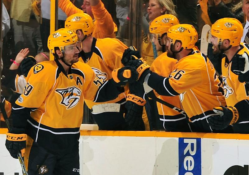 Roman Josi scores twice for the Nashville Predators as they beat the Chicago Blackhawks 4-1