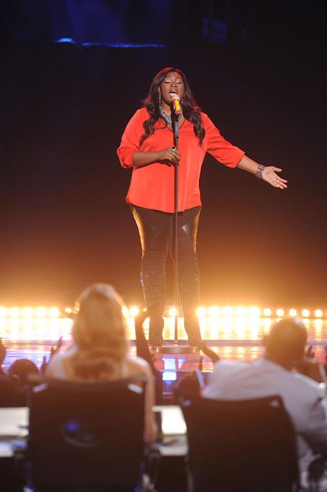"Candice Glover performs ""Chasing Pavements"" on the Wednesday, May 15 episode of ""American Idol."""