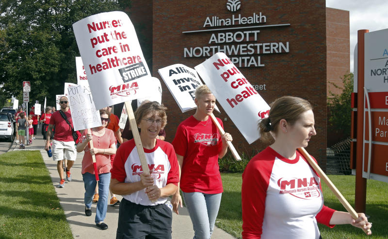 Minnesota nurses vow to strike after talks break down