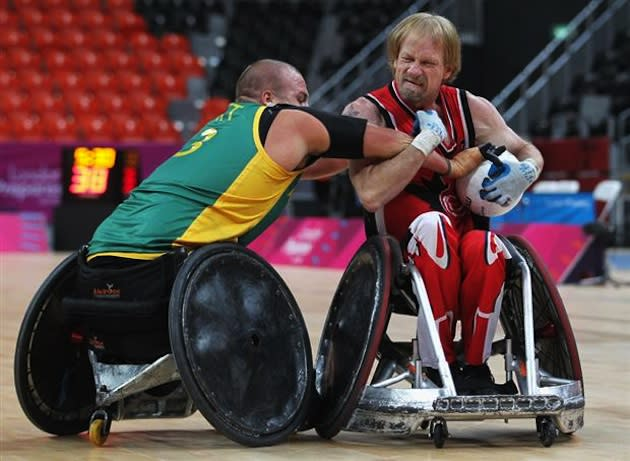 Boosting is said to be rampant in wheelchair rugby, with as many as 55 percent of athletes having tried it — Getty Images