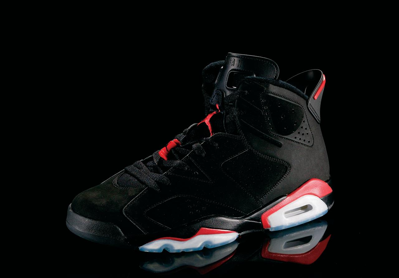 "<p>Air Jordan V - ""The Fighter"" (1990): Inspired by a World War II fighter plane, MJ scored 69 points against the Celtics in a pair of these. (Photo Courtesy of Nike)</p>"