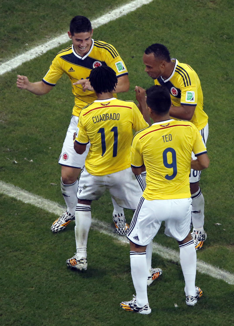 An unfamiliar face of Colombia beams at World Cup