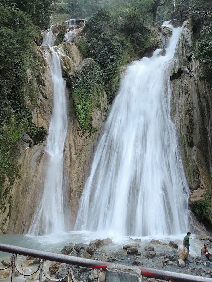 "Kempty Falls in Mussoorie, Uttarakhand. The falls are located 15 km from Mussoorie on the Chakrata Road and is a sought-after tourist spot. The falls are located at an altitude of 4,500 feet in the Himalayan foothills. <br><br>by <a target=""_blank"" href=""http://www.flickr.com/photos/85346190@N06/"">nks16</a>/ Flickr"