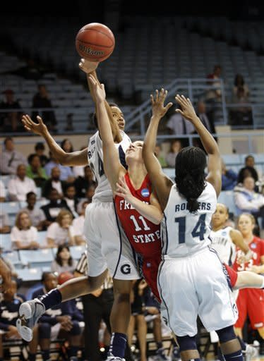 Georgetown women hold off Fresno St, 61-56