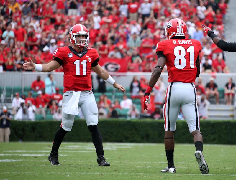 No. 9 Georgia's offense clicking on all cylinders