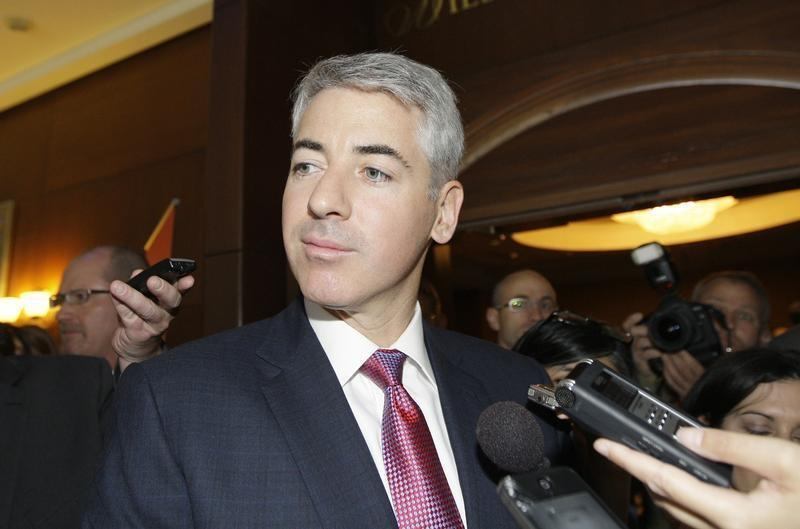 Ackman, CEO of Pershing Square Capital Management LP talks to reporters before AGM of CP Rail in Calgary
