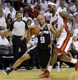 Tony Parker and the Spurs ran circles around Miami en route to a record performance. (AP)