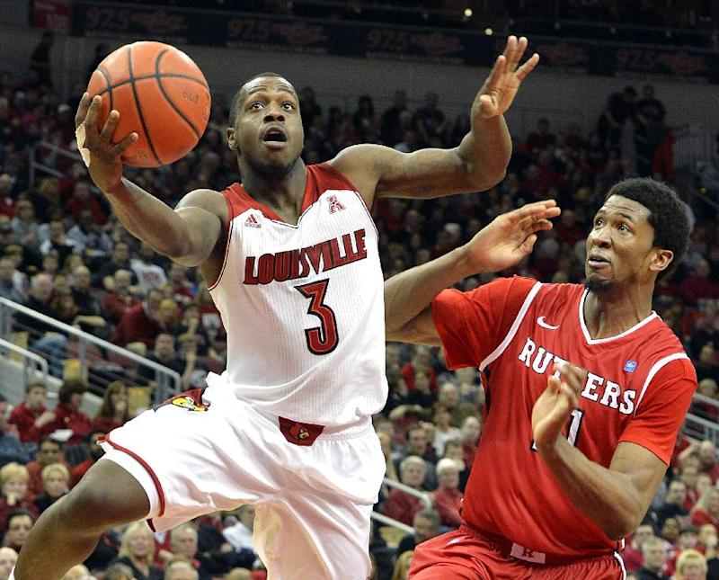 No. 13 Louisville hits 16 3s, routs Rutgers 102-54