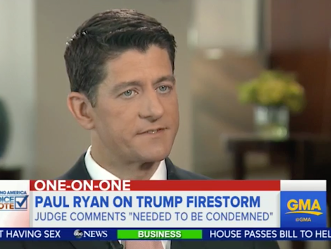 Paul Ryan on ABC