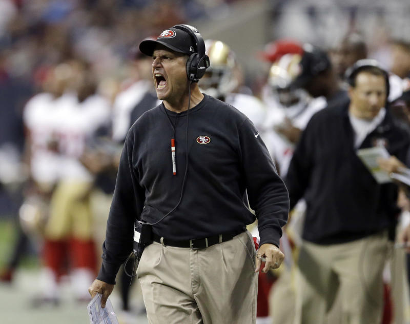 Baalke, Harbaugh won't tolerate domestic violence