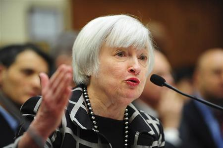 """Federal Reserve Chair Janet Yellen testifies before a House Financial Services Committee hearing on """"Monetary Policy and the State of the Economy."""""""