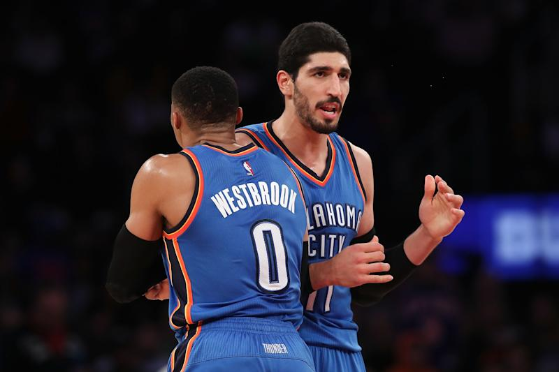 Thunder's Kanter fractures forearm punching a chair