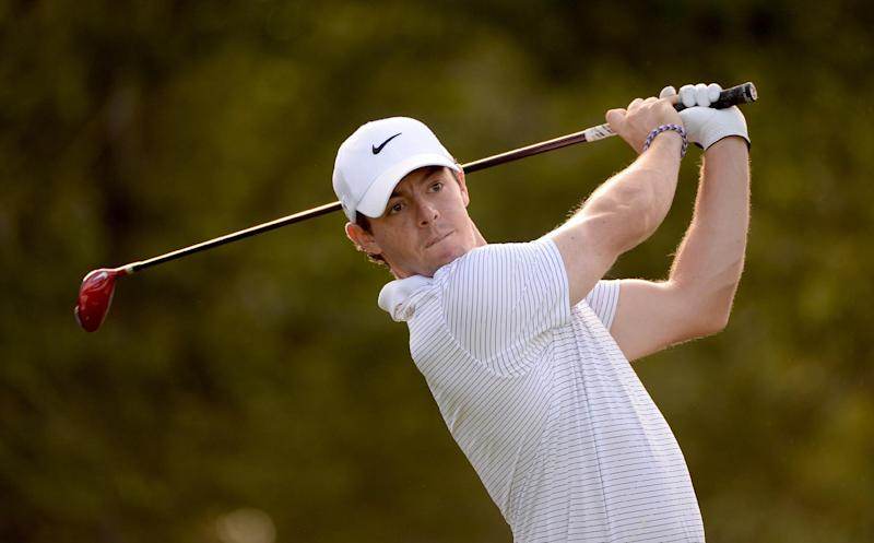 Rory McIlroy during the pro-am event prior to the Deutsche Bank Championship in Norton, Massachusetts on August 28, 2014