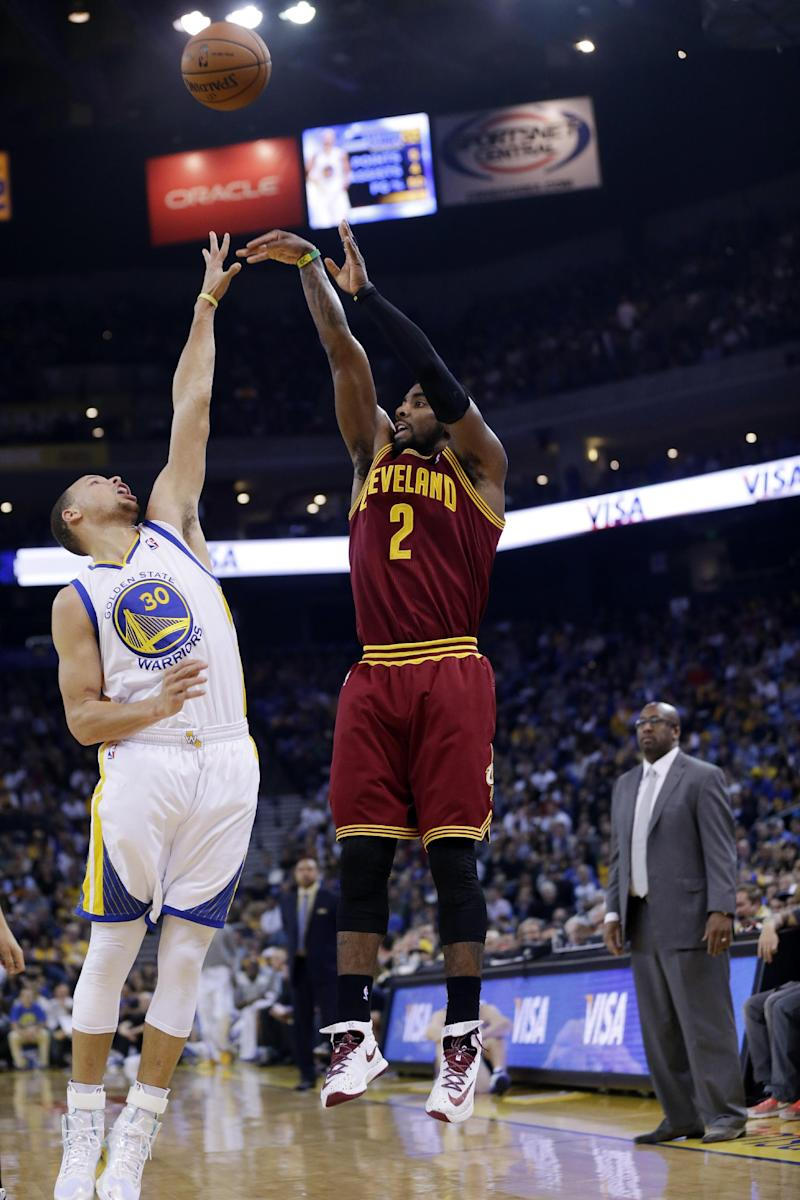 Cavs' Irving out 2 weeks with biceps injury