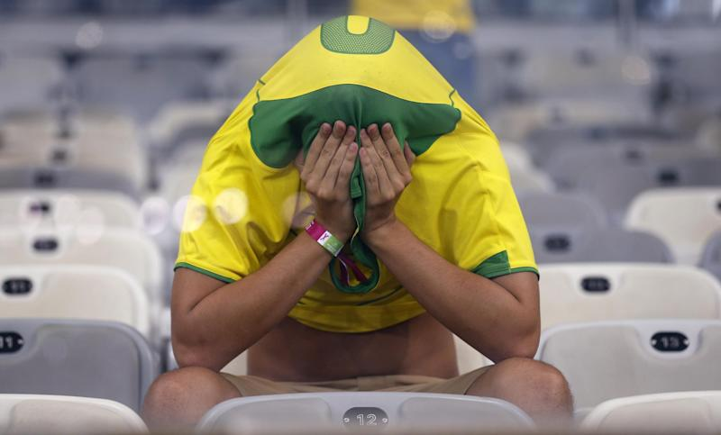 AP PHOTOS: Brazil fans in shock after 7-1 loss