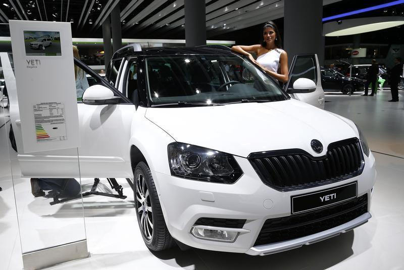 A Skoda Yeti SUV is pictured during a media preview day at the Frankfurt Motor Show