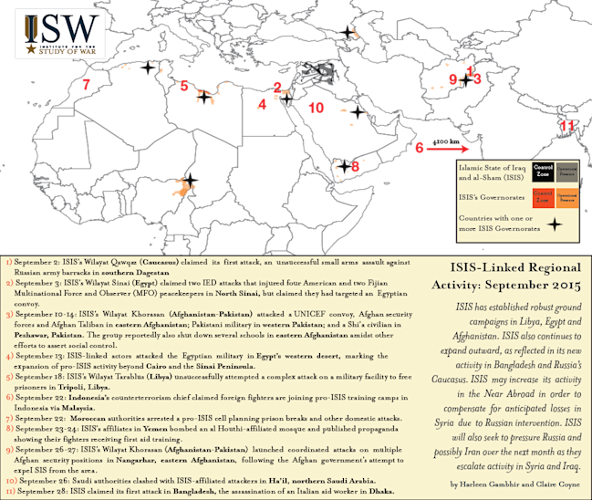 ISIS Near Abroad SEP isw isis world map